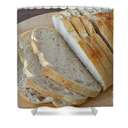 Fresh Baked Sourdough Shower Curtain by Mary Deal