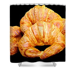 Fresh Croissants Shower Curtain
