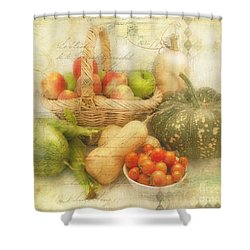 Fresh From The Garden Shower Curtain by Linda Lees