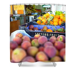 Shower Curtain featuring the photograph Fresh Fruit by Vicki Spindler
