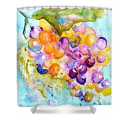 Fresh Grapes Shower Curtain by Beverley Harper Tinsley