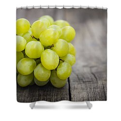 Fresh Green Grapes Shower Curtain by Aged Pixel
