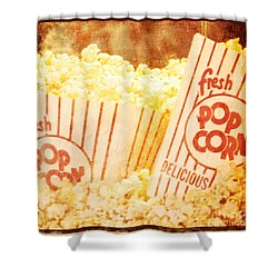Fresh Hot Buttered Popcorn Shower Curtain