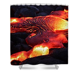 Fresh Lava Flow Shower Curtain by Venetia Featherstone-Witty