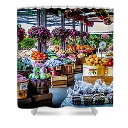 Fresh Market Shower Curtain by Karen Wiles