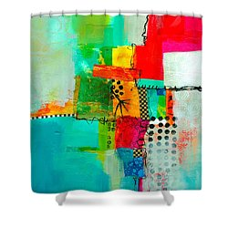Fresh Paint #5 Shower Curtain by Jane Davies