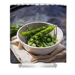 Fresh Peapods Shower Curtain by Edward Fielding