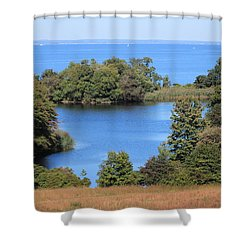 Fresh Pond At Caumsett Shower Curtain