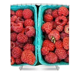 Fresh Raspberries Shower Curtain