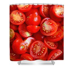 Fresh Red Tomatoes Shower Curtain
