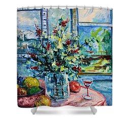 Fresh Spring Shower Curtain by Leonard Holland