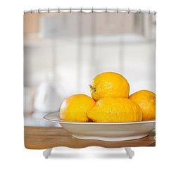 Freshly Picked Lemons Shower Curtain by Amanda Elwell