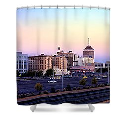 Fresno Skyline Into The Evening Shower Curtain