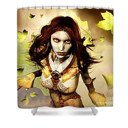 Freya Shower Curtain by Gabor Gabriel Magyar - Forgottenangel