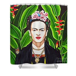 Shower Curtain featuring the painting Frida by Joseph Sonday