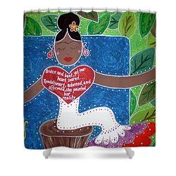 Frida Kahlo Shower Curtain by Angela Yarber