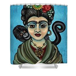 Frida's Monkey Shower Curtain by Victoria De Almeida