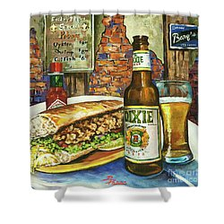 Friday Night Special Shower Curtain by Dianne Parks