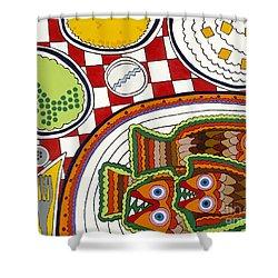 Friday Shower Curtain by Rojax Art