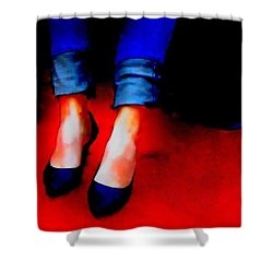Friday Wear Shower Curtain by Lisa Kaiser