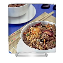 Fried Rice Shower Curtain by Tim Hester
