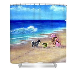 Friendly Encounter Shower Curtain