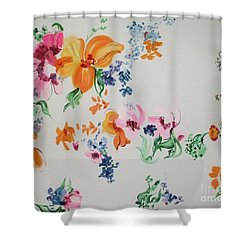 Friends Are Like Flowers Shower Curtain by PainterArtist FIN