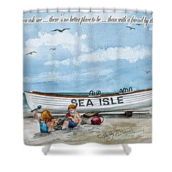Friends By The Sea  Shower Curtain