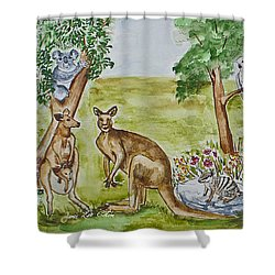 Friends Down Under Shower Curtain