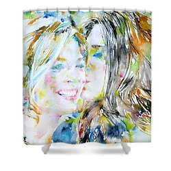 Friends Shower Curtain by Fabrizio Cassetta