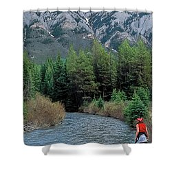 Friends In Awe Shower Curtain by Terry Reynoldson