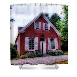 Friends Meeting House Shower Curtain by Skip Willits