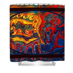Friendship And Love Abstract Healing Art Shower Curtain