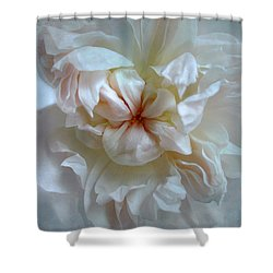 Friendship Is The Breathing Rose Shower Curtain by Louise Kumpf