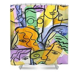 Friendship Shower Curtain by Leon Zernitsky