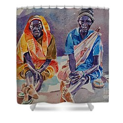 Friendship  Shower Curtain by Mohamed Fadul
