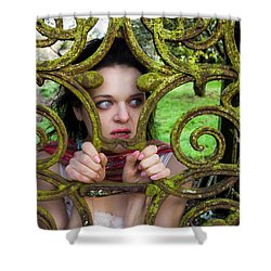 Frightened  Shower Curtain by Semmick Photo
