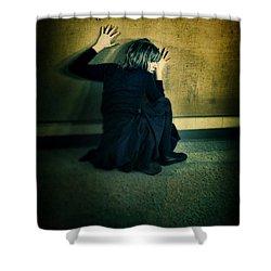 Frightened Woman Shower Curtain by Jill Battaglia