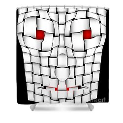 Frightening Mask Shower Curtain by Michal Boubin
