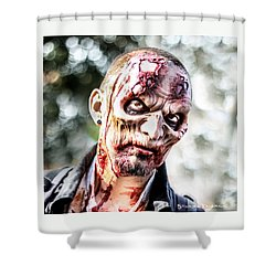 Shower Curtain featuring the photograph Frightfulness Bones by Stwayne Keubrick