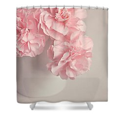 Frilly Pink Carnations Shower Curtain