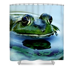 Green Frog I Only Have Eyes For You Shower Curtain