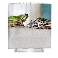 Frog Flatulence - A Case Study Shower Curtain