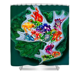 Frogs Shower Curtain by Sherry Shipley