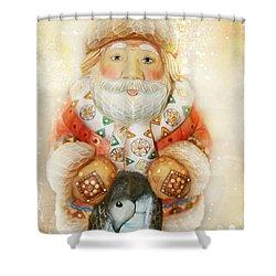 frohe Weihnachten Shower Curtain by Sharon Mau