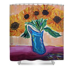 From A Fair And Sunny Field Shower Curtain