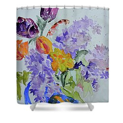 From Grammy's Garden Shower Curtain by Beverley Harper Tinsley