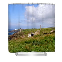 From Levant To Pendeen Cornwall Shower Curtain by Terri Waters