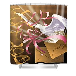 From Mom And Dad With Love Shower Curtain