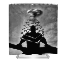 From Outer Space Shower Curtain by ISAW Gallery
